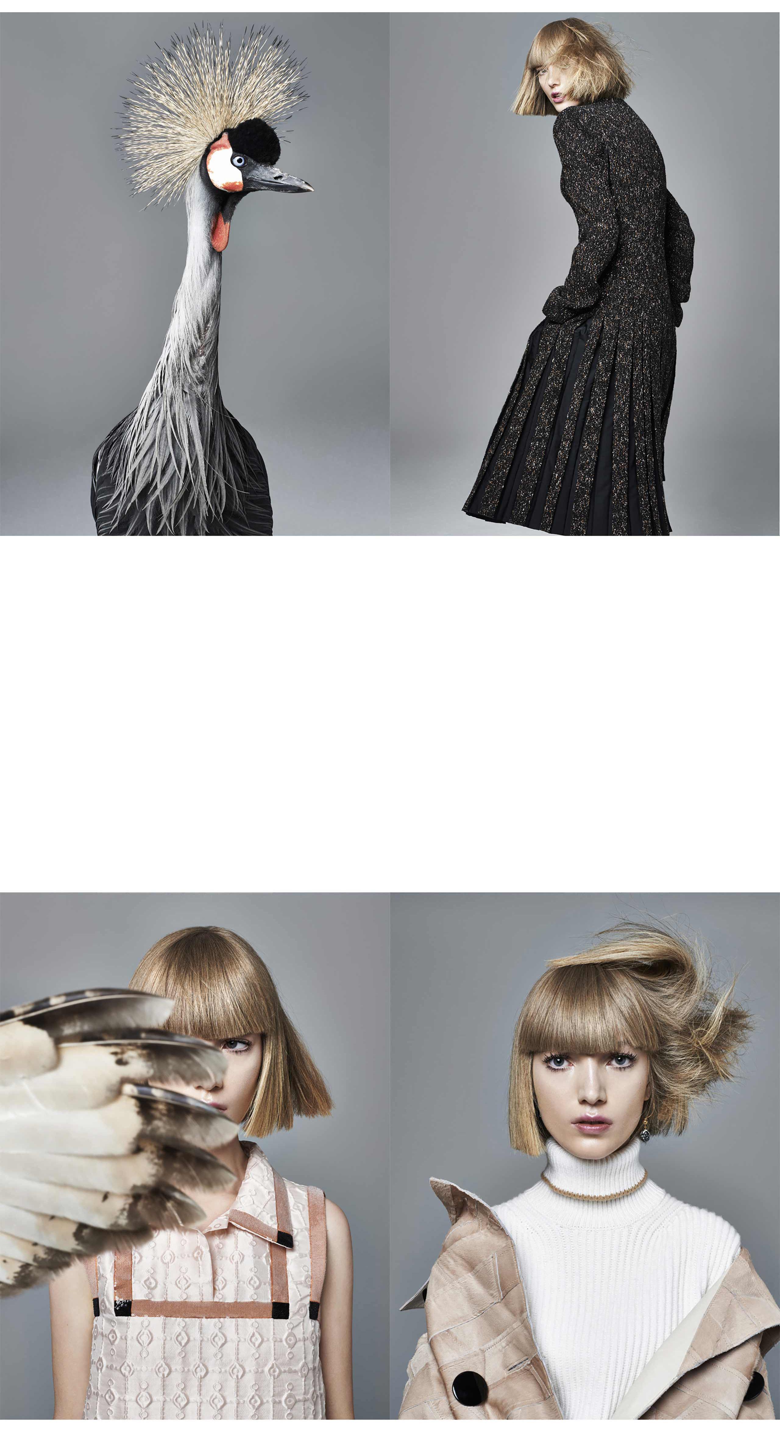 M Lou Schoof PH Jasper Abels ST Antoinette Degens MU Suzanne Verberk H Daan Kneppers NCL-rep FOR Harpers Bazaar NL